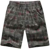 Chickle Men's Big and Tall Plaid Cargo Shorts 2XL