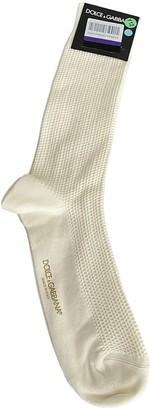 Dolce & Gabbana Beige Cloth Boots