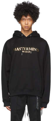 mastermind WORLD Black Boxy Foiled Hoodie