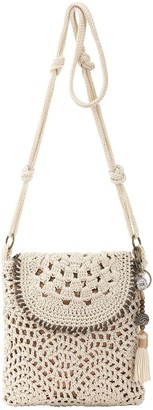 The Sak Sayulita Crocheted Flap Crossbody Handbag