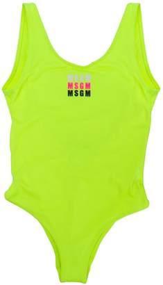MSGM Kids repeated logo print swimsuit