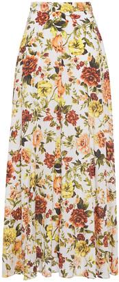 Zimmermann Zippy Basque Floral-print Silk-blend Maxi Skirt