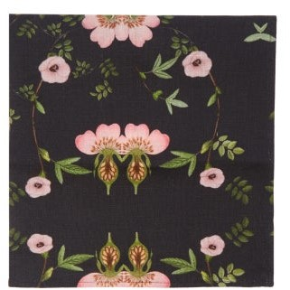 Preen by Thornton Bregazzi Set Of Four Floral-print Linen Napkins - Black Print