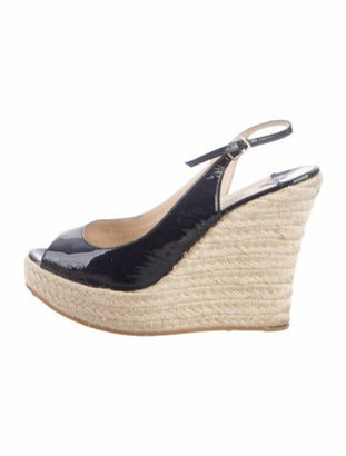 Jimmy Choo Polar Patent Leather Espadrilles Blue