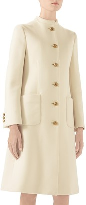 Gucci Knot Button Wool Coat