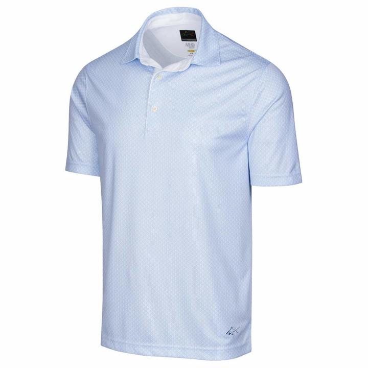 Thumbnail for your product : Greg Norman Mens ML75 2Below Fin Print Polo Shirt - Navy - S