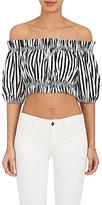 Dolce & Gabbana Women's Striped Voile Crop Top
