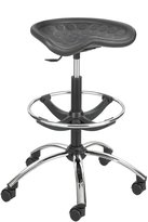 Safco Products SitStar Stool with Chrome Base, (6660BL)