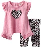 Little Lass Baby-Girls Infant 2 Piece Capri Set with Animal Print