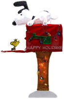 Asstd National Brand 36 Pre-Lit Peanuts Snoopy With Red Mailbox Animated Yard Art with Clear Lights