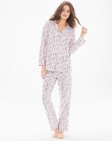 Soma Intimates Cotton Blend Knit Classics Pajama Set Spoons