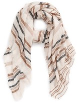 David & Young Women's Textured Stripe Oblong Scarf