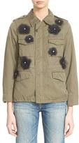 Women's Tu Es Mon Tresor Tulle Flower Military Jacket