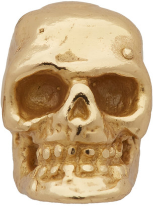 Emanuele Bicocchi Gold Single Tiny Skull Stud Earring