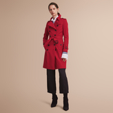 Burberry The Chelsea - Long Heritage Trench Coat , Size: 12, Red