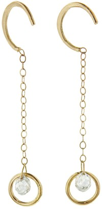 Melissa Joy Manning Diamond Briolette Hug Drop Earrings
