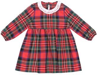 Il Gufo Baby Checked cotton dress