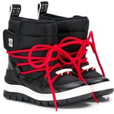 Givenchy Kids lace up moon boots