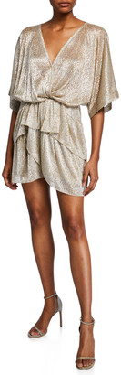 IRO Tiered-Ruffle Mini Dress