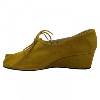 Salvatore Ferragamo Yellow Suede Heels