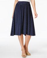 Charter Club Petite Dot-Print A-Line Skirt, Created for Macy's