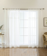 Best Home Fashion White Sheer Voile Curtain Panels - Set of Two