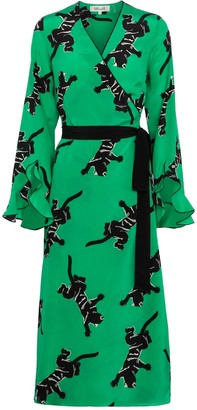 Diane von Furstenberg Serena silk crepe de chine wrap dress