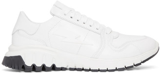 Neil Barrett White Retro Runner Sneakers