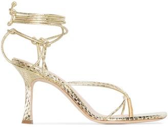Magda Butrym Snakeskin-Effect Strappy Sandals