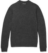 Balenciaga Mélange Wool Sweater - Gray