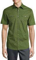 Claiborne Short Sleeve 2 Pocket Button-Front Shirt