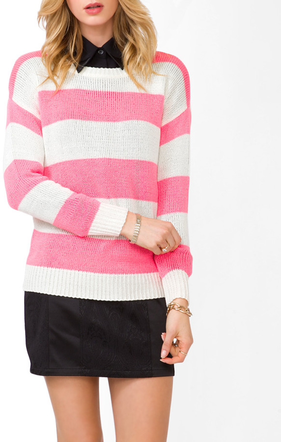 Forever 21 Striped Long Sleeve Sweater