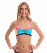 Roxy Swimwear Golden Girl Shirred Bandeau Bikini Top 8116728