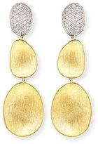 Marco Bicego 18K Lunaria Diamond Triple-Drop Earrings