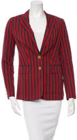 Tory Burch Striped Notch Lapel Blazer