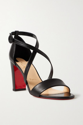 Christian Louboutin Loubi Bee 85 Leather Sandals - Black