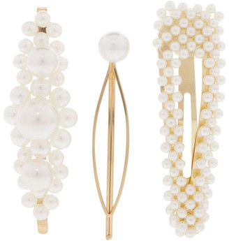Pack of 3 Pearl Clips