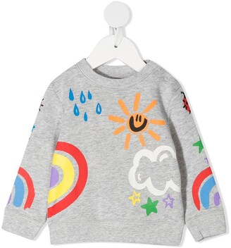 Stella McCartney Kids Weather-Motif Print Sweatshirt