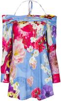 Roberto Cavalli floral print off shoulder blouse