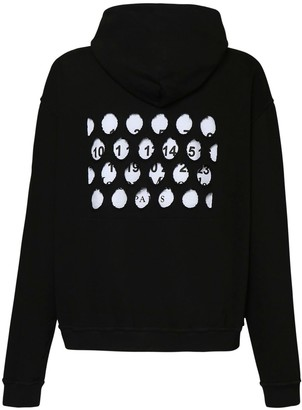 Maison Margiela Perforated Logo Cotton Jersey Hoodie