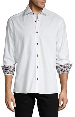 Bertigo Printed-Cuff Shirt