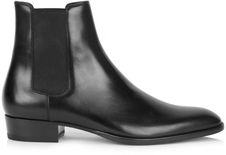 Saint Laurent Wyatt black leather Chelsea boots