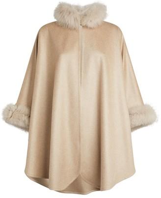 Max Mara Cashmere Fox Fur Cape