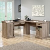 Beachcrest Home Bowerbank L-Shaped Executive Desk Color: Salt Oak