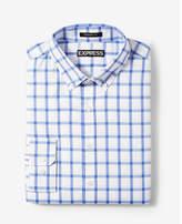 Express modern fit plaid performance dress shirt
