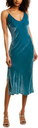 le superbe Nomad Velvet Silk-Blend Slip Dress
