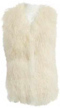 Camilla Ecru Mongolian Lamb Jacket for Women