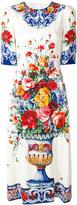 Dolce & Gabbana Majolica print dress - women - Silk/Spandex/Elastane - 40