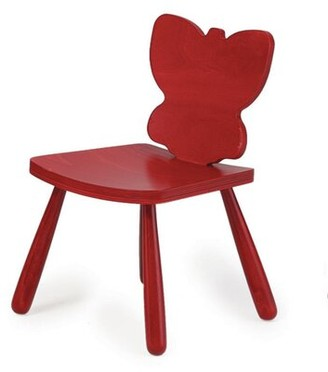 "The Children's Furniture Co. Animal Butterfly Kids Desk Chair Size: 23"" H x 14.5"" W x 14"" D, Color: Natural"