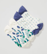 LOFT Floral & Dot No Show Sock Set